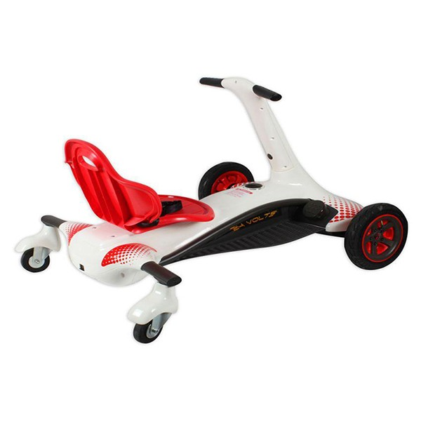 Kart electric Rollplay Turnado drift Alb