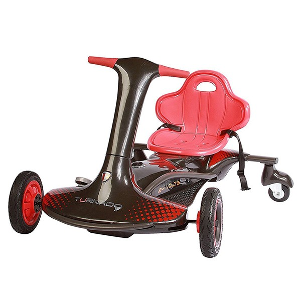 Kart electric Rollplay Turnado drift Negru