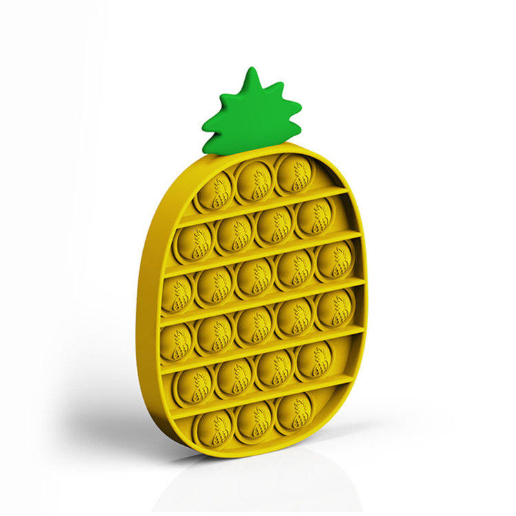 Jucarie din silicon antistres POP IT ananas